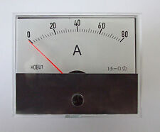 R59 DC ammeter for use with shunt 0-80amps     R5980AS