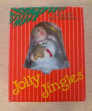Jolly Jingles Handpainted Porcelin Bisque Collector Bell Ornament Angel In Box