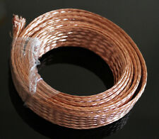 1m (3.3ft),15mm Flat Copper Braid cable,Bare copper braid wire, ground lead