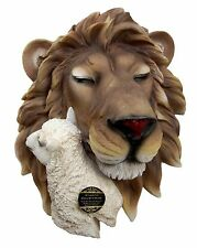 """15""""H Large Lion And The Lamb Prophecy of Jesus Christ Wall Plaque Decor Figurine"""