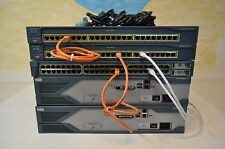 Cisco CCENT, CCNA & CCNP LAB KIT 2x 2821 15.1 IOS 1x 3550-24 LAYER 3, 2x2950
