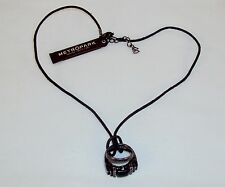 Necklace  Double Finger Rings On Leather Cord ~ Metropark  ~ NEW #5410200