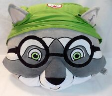 """OLIVER Raccoon Kids Pillow Great Wolf Lodge 15"""" wide x 13"""" tall"""