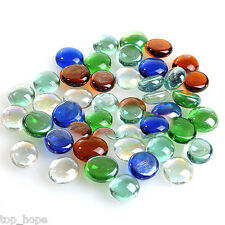 Glass Nugget Pebbles Colorful Round Beads Stones For Fish Tank Aquarium Decor