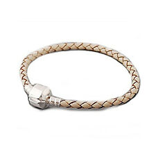 """High Quality Real Leather Bracelet Champagne  (7.25"""")Fits Beads For European Sna"""