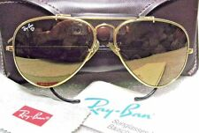 RAY-BAN VINTAGE B&L AVIATOR *Diamond Hard Survivor W1506-BLACK SUNGLASSES & CASE
