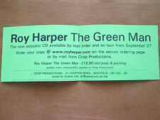 ROY HARPER  - THE GREEN MAN ORIGINAL PROMO PAPER FLYER GIVEN AWAY AT GIGS