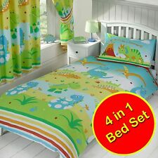 ROAR LIKE A DINOSAUR 4 in 1 JUNIOR BEDDING BUNDLE NEW DUVET COVER SET