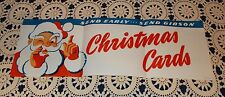 VTG 1940s 50s DEPT STORE CHRISTMAS GIBSON CARDS ADVERTISING SIGN DISPLAY UNUSED