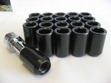 16 pcs 12X1.5 BLACK TUNER LUG NUTS WITH KEY FOR HONDA ACURA TOYOTA CIVIC INTEGRA