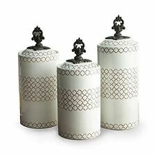 Kitchen Storage Canister 3pc White Container New Sugar Flour