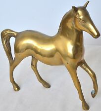 Vintage Brass Horse Stallion Statue Figurine Sculpture