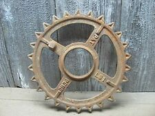 Antique Cast Iron Wheel with Teeth - Gear - Steampunk - Industrial