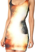 BlackMilk Clothing Yellow Galaxy Dress Sz L Large