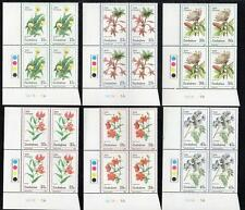 ZIMBABWE MNH 1989 Wild Flowers Cylinder Block of 4