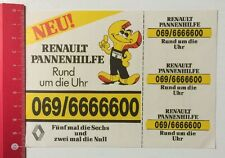 Aufkleber/Sticker: Renault Pannenhilfe - Rund Um Die Uhr (290416135)