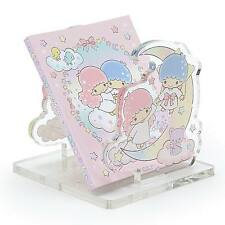 Little Twin Stars Acrylic Memo stand Set With Memo book Stationary Sanrio japan