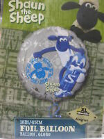 "SHAUN THE SHEEP FOIL BALLOON 18"" ROUND EXTRA LARGE BIRTHDAY FARMER PARTY DECO"