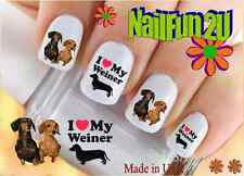 "RTG Set#127 DOG BREED ""Love my Weiner Dog"" WaterSlide Decals Nail Art Transfers"