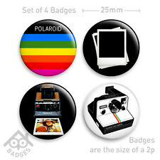 "POLAROID Camera SX-70 RETRO Film - 1"" Badge - Set of 4 x 25mm Badges Set 3"