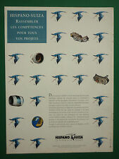 11/1996 PUB HISPANO-SUIZA COLOMBES CIGOGNE INVERSEUR NACELLE ORIGINAL FRENCH AD