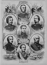OFFICERS OF THE CRIMEA SIR CHARLES NAPIER LORD RAGLAN PASKEWITCH CANROBERT PACHA