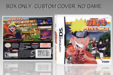 NARUTO PATH OF THE NINJA. ENGLISH. DS. COVER CUSTOM + ORIGINAL BOX. (NO GAME)