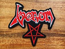 Venom Rock Band Sew Iron On Patch Heavy Metal Logo Music Embroidered Cap Jacket.