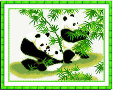 "New Stamped Cross Stitch Kit ""Panda"" 21""x16"" printed design"