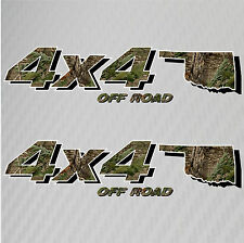 4x4 Truck Off Road Oklahoma Hunting Deer Camo Decal Ford Chevy GMC Dodge Toyota
