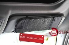 Brand New Black Car 10 PCS Visor Organizer Holder Case CD DVD Storage
