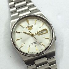 VINTAGE GENT'S SEIKO 5 AUTOMATIC DAY-DTAE 21-J WRIST WATCH GS-2026
