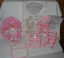 #7063 New No Box Vintage Galoob Bouncin Babies Cuddly Baby Giftset
