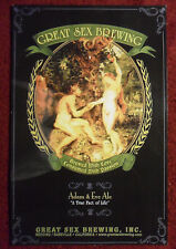 Beer Poster Great Sex Brewing Co Ale ~ Garden of Eden Eve Picks Forbidden Fruit