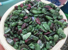 100g Natural green zoisite ruby crystal polished stones Crystals Wholesale
