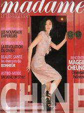 madame FIGARO 26/01/2008 maggie cheung artistes chinois