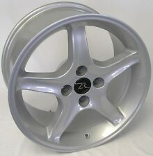 """17"""" Silver Ford Mustang Cobra R ® Wheels Staggered 17x8 17x10 Inch 4x108 87-93"""