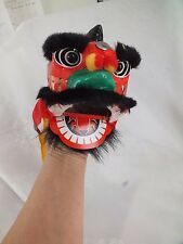 CHINESE BLACK LUCKY LION DRAGON HEAD HAND PUPPET MUPPET NEW YEAR CHILDREN PARTY