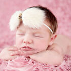 Newborn Baby Girl Cute Feather Bow Headband Elastic Headband Hair Accessories