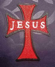 JESUS CROSS EMBROIDERED PATCH SEW/IRON ON FREE SHIPPING GOD JESUS CHRIST