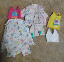 1980'S Barbie Skipper colorful Design Outfits Barbie doll clothes plus jewelry