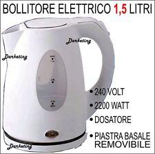 BOLLITORE ELETTRICO 1,5L BASE REMOVIBILE DOSATORE SCALDA ACQUA THE TISANA LATTE