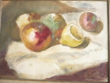 DESSIN ORIGINAL NATURE MORTE AQUARELLE SIGNEE 1940