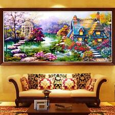 1Kit 5D DIY Diamond Rhinestone Landscape Garden Embroidery Painting Home Decor