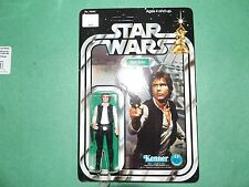 1977 Vintage Star Wars 12 Back Style A Han Solo (Small Head) (Unpunched)! Beaty!