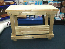 New hand made 4FT solid heavy duty, wooden work bench