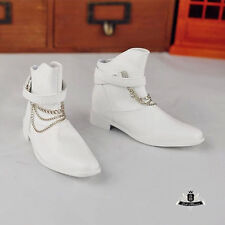 Uncle size BJD Boots SD17 Dollfie MID DOD AOD EID DZ Shoes punk white boots 0260