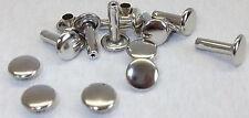 100 Hohlnieten Doppelhohlnieten Nieten 8x3x12 Silber rostfrei