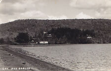 Lac-aux-Sables MAURICIE Quebec Canada 1940s Carte Postale Photo P.E. Duplain