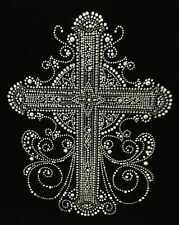 "HOTFIX RHINESTONES HEAT TRANSFER IRON  ""BLING BLING CROSS"""